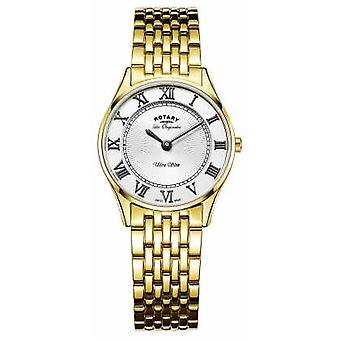 Rotary Womens Les Originales Ultra Slim White Dial LB90803/01 Watch