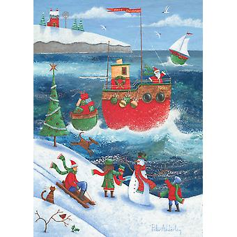 Coastal Christmas Poster Print by Peter Adderley