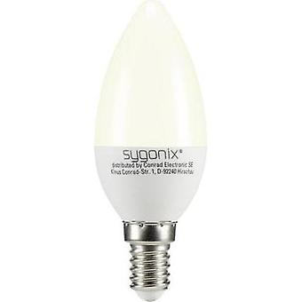 LED Sygonix 230 V E14 3 W = 25 W Warm white EEC: A+ Candle (Ø x L) 37.50 mm x 99 mm 1 pc(s)