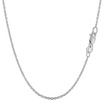 14 k wit goud kabel Link Chain ketting, 1.1mm