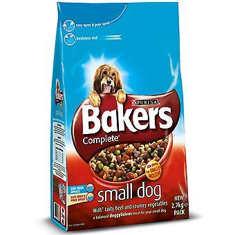 Bagere komplet voksen lille hund oksekød 2,7 kg (pakke med 4)
