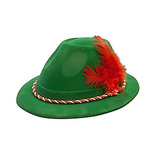 Wicked Oktoberfest Hat With Feather Bavarian Fancy Dress Outfit Accessory