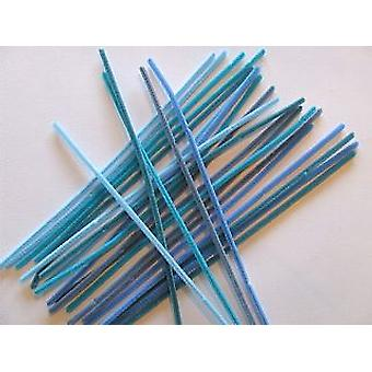 15 Shades of Blue Chenille Pipe Cleaners | Chenille Stems
