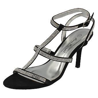Ladies Anne Michelle Bar Strap Heeled Sandal