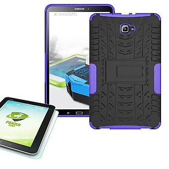 Hybrid outdoor bag purple for Samsung Galaxy tab A 10.1 T580 + 0.4 armoured glass