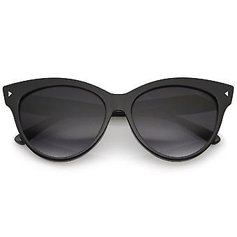 Kvinders Mod Oversize Horn kantede Cat Eye solbriller 52mm