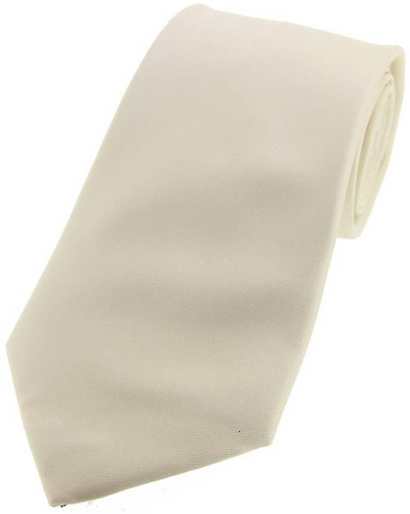 David Van Hagen Satin Silk Tie - Ivory
