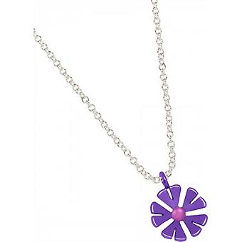 Ti2 Titanium 13mm Ten Petal Flower Pendant - Imperial Purple