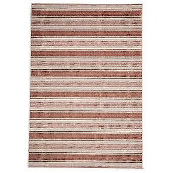 Outdoor carpet for Terrace / balcony red brown contemporary Riga rust red 135 / 190 cm carpet indoor / outdoor - for indoors and outdoors