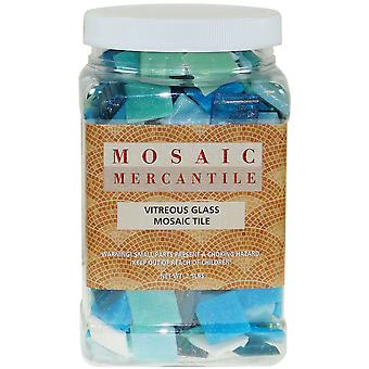 Vitreous Glass Mosaic Tile 2.5Lb Horizon Mix 2.5Jar Ho