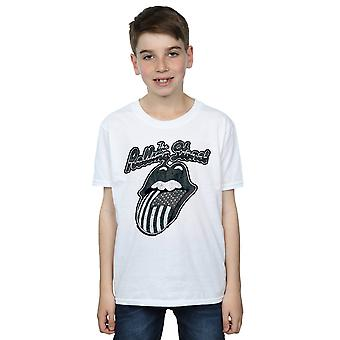 Rolling Stones Boys Monochrome American Tongue T-Shirt