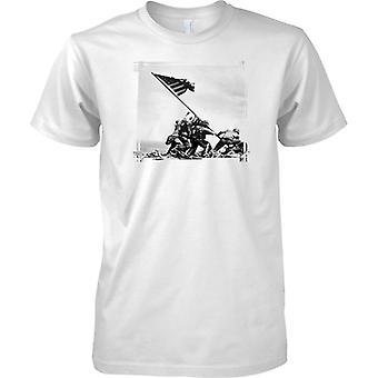 Seconda Guerra Mondiale Iwo Jima - Bandiera - USMC - Bambini T Shirt