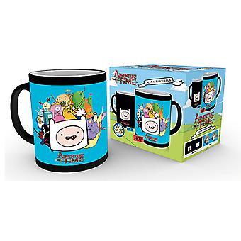 Adventure Time tekens warmte veranderende mok