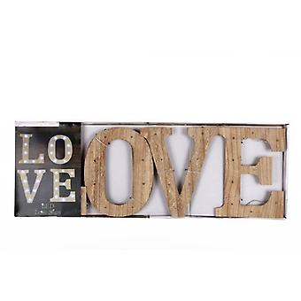 86.5CM WALL HANGING LIGHT UP WOODEN LOVE SIGN LED DISPLAY DECORATION SIGNBOARD