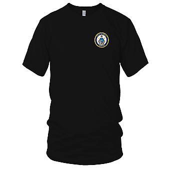 US Coast Guard USCG - WMSL-751 Waesche Embroidered Patch - Ladies T Shirt