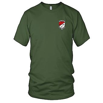 US Army - 1st of the 7th Aviation Cavalry Regiment Camanche Embroidered Patch - Mens T Shirt