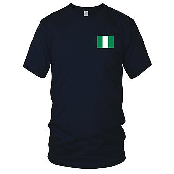 Nigeria Land Nationalflagge - Stickerei Logo - 100 % Baumwolle T-Shirt Herren T Shirt
