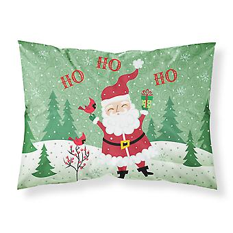 Merry Christmas Santa Claus Ho Ho Ho Fabric Standard Pillowcase