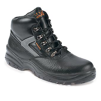 Worksite Black Safety Work Boots. Steel Toe & Midsole. Sizes: 5-13  – SS601SM