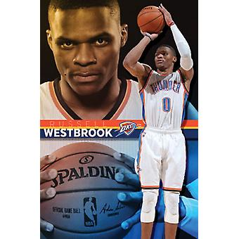 Oklahoma City Thunder - Russell Westbrook 15 Poster Print