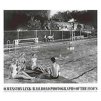 Swimming Pool Poster Print by O Winston Link (32 x 28)
