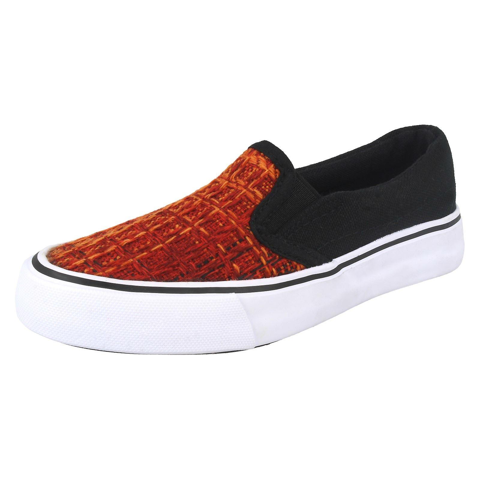 Chicos JCDees resbalón en los zapatos de lona