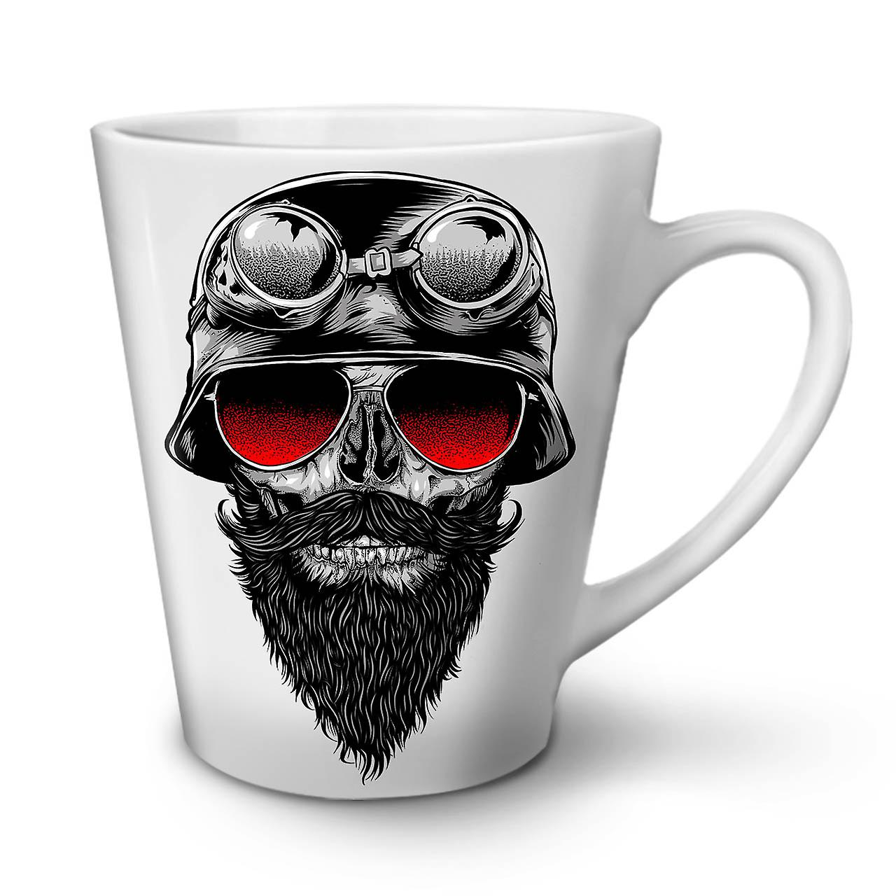 Mug 12 Lunettes Nouveau Blanc OzWellcoda Skull Thé Biker Café Latte En Rouge Céramique Yf6gyb7v