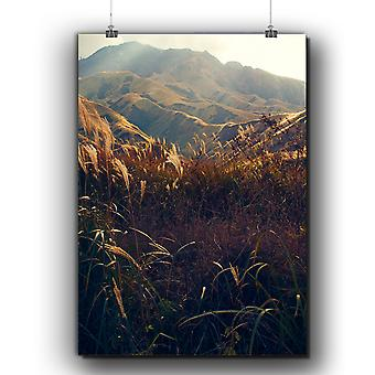 Matte or Glossy Poster with Nature Mountain Valley | Wellcoda | *q318