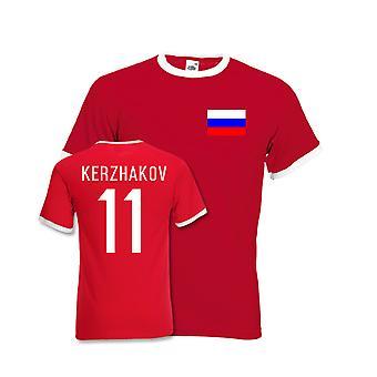 Aleksandr Kerzhakov Russland Ringer-T-Stück (rot)