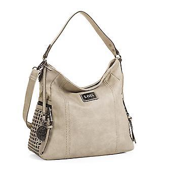 Stort håndtag og justerbar skulder taske dame taske. Kunstlæder imiteret læder. Foring stempling og indvendig lomme. Pocket tilbage lynlås. 93170