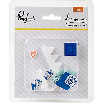 Dream On Rubber Chips Embellishments 11/Pkg- RC101117