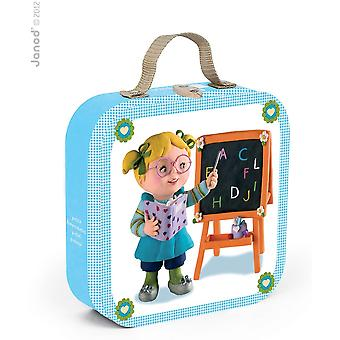 Janod Lisa Plays Teacher Puzzle Case