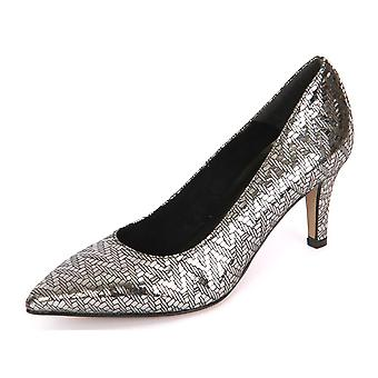 Tamaris Pewter Structur Leder 12245037964 ellegant  women shoes