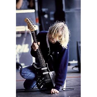 Курт Кобейн гитара плакат печать (24 X 36)