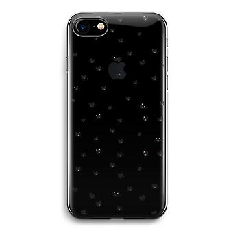 iPhone Case 7 Transparent (weich) - Katzen wenig