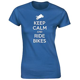 Keep Calm And Ride Bikes Motorbikes Womens T-Shirt 8 Colours by swagwear