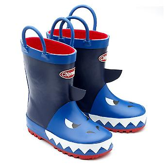 Frække drenge Jaws gummistøvler blå