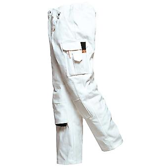 Portwest Mens Workwear Multi Pocket Cotton Protect Painters Work Trousers White