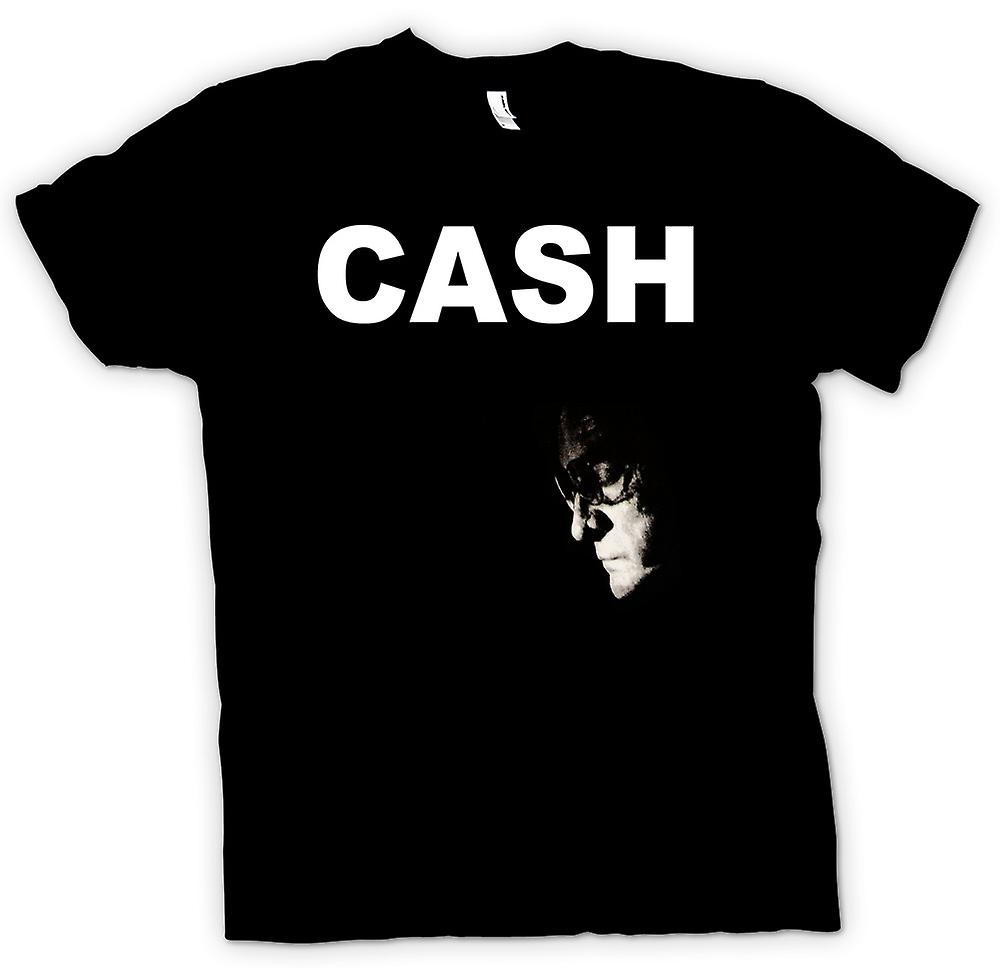 T-shirt - Johnny Cash - Hurt - uomo In nero