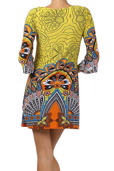 Waooh - Fashion - Short Dress enycra floral pattern