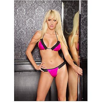 Allure Flirty Girl Set di Lingerie AL-12-9601 gomma Look in vinile