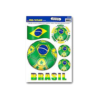 Brasil Pele n Coloque pegatinas removibles