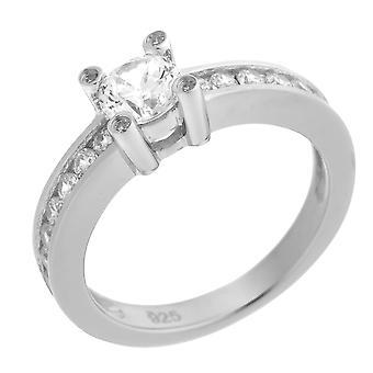 Orphelia Silver 925 Ring Center Stone  Zirconium   ZR-7033