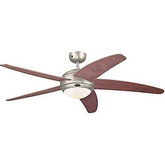 Ceiling fan Westinghouse Bendan (Ø) 132 cm Wing colour: Wood Case colour: Tin