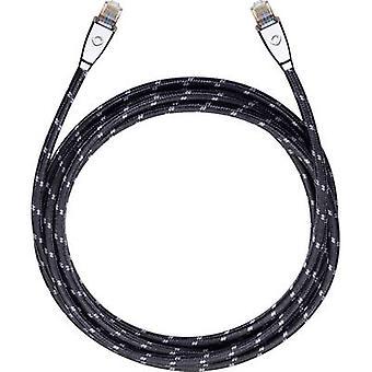 RJ45 Networks Cable CAT 6 S/FTP 2.2 m Black Oehlbach XXL® HYPER STREAM