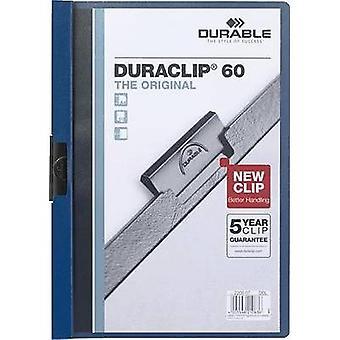 Durable klemmmappen DURACLIP 60 2209-07 A4 Dark blue