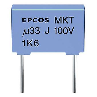 Epcos B32520-C225-K MKT thin film capacitor Radial lead 2.2 µF 63 Vdc 10 % 7.5 mm (L x W x H) 10 x 6 x 12 mm 1 pc(s)