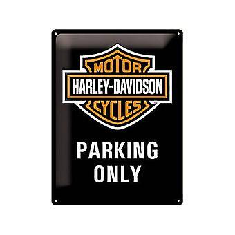 Harley-Davidson Parkplatz nur große geprägt Stahl Zeichen