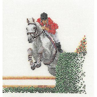 Showjumper On Aida Counted Cross Stitch Kit-6.25