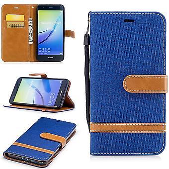 Funda para Huawei P10 Lite jeans celular protectora caso funda azul